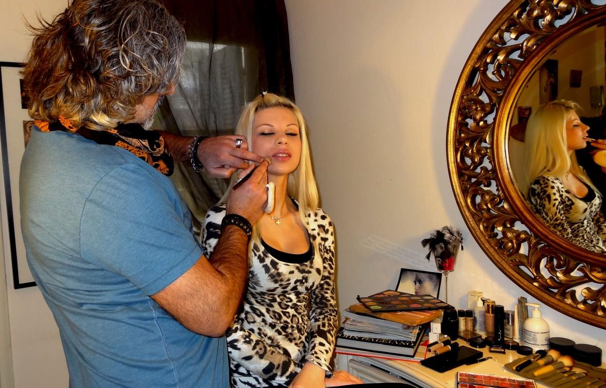 Make Up tv shooting